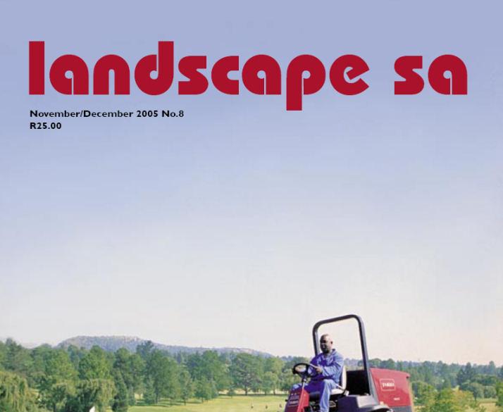 landscape sa 2005 12 cover 1 Cover   08 – November – December 2005